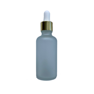 Euro 50ml Frosted Bottle with Gold Dropper
