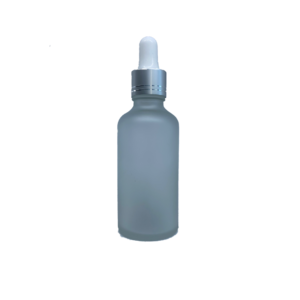 Euro 50ml Frosted Bottle with Silver Dropper