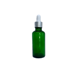 Euro 50ml Green Bottle with Silver Dropper