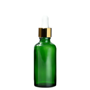 Euro 50ml Green bottle with Gold Dropper