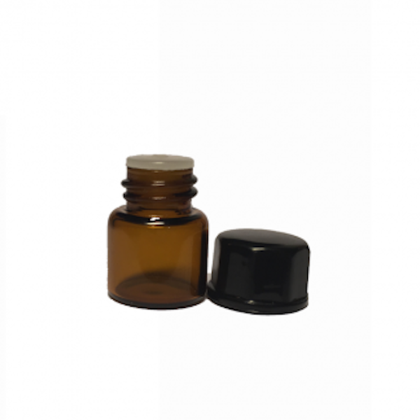 1ml Amber Glass Vial with Oriface reducer